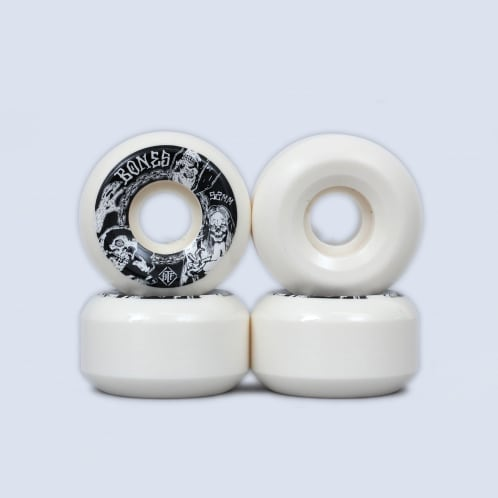 Bones 52mm STF Terror Nacht V5 Sidecut Wheels White