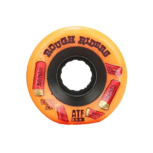 Bones Rough Riders Shotgun ATF Skateboard Wheel - Orange 56MM