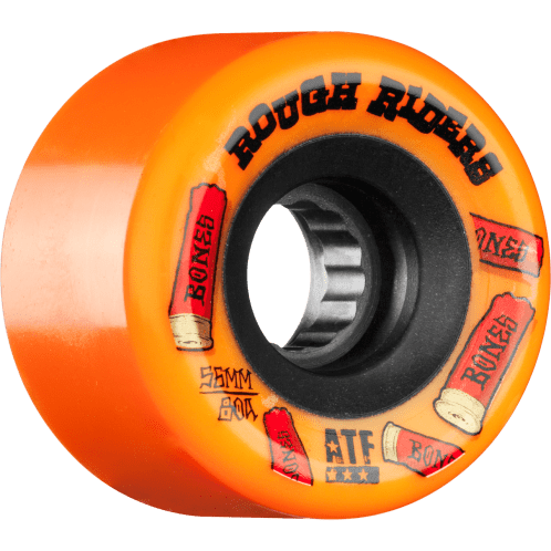 Bones Rough Riders Shotgun ATF Skateboard Wheel - Orange 59MM