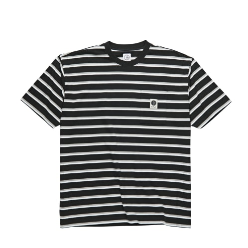 Polar Stripe Pocket Tee Black