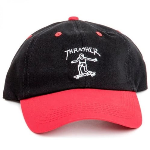 Thrasher Gonz Old Timer Hat - Black/Red