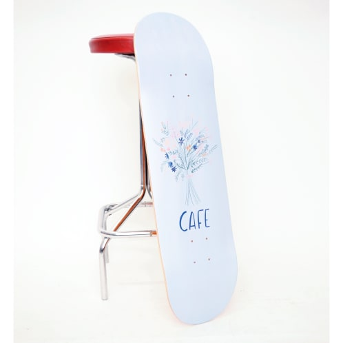 Skateboard Cafe Bouquet Deck Light Blue - All Sizes