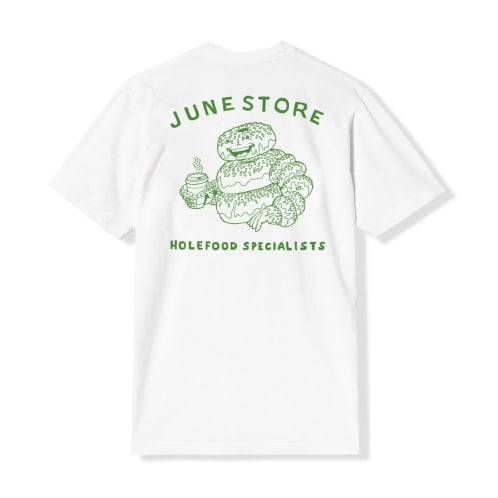 June - Hole Food Specialist Tee - White, Green