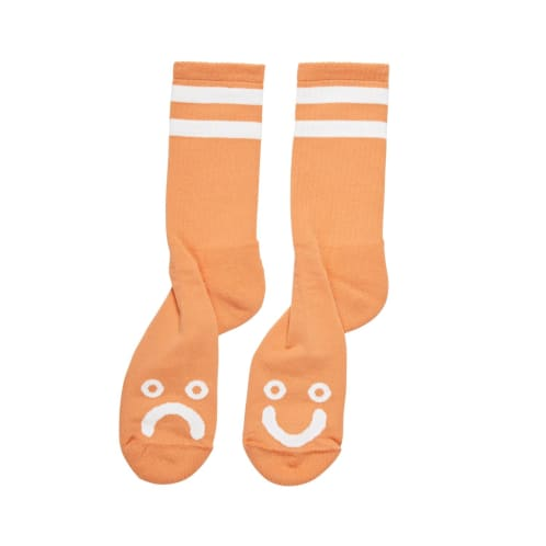 Polar Skate Co Happy Sad Socks Light Orange