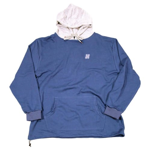 North N Logo Two Tone Hooded Sweatshirt - Navy/Grey
