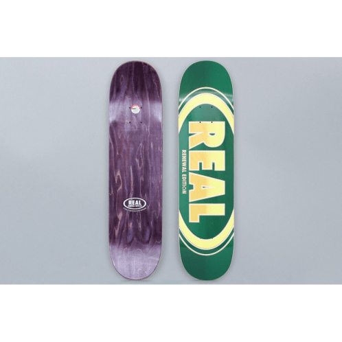 Real 7.75 Oval Duo Fades Skateboard Deck Green