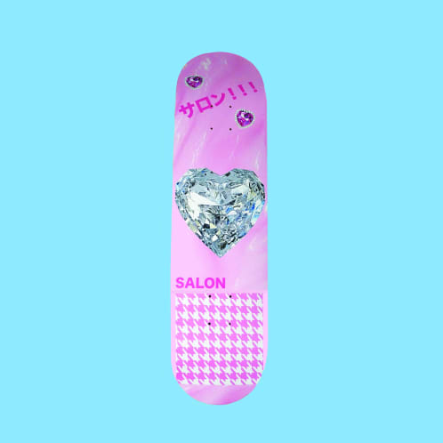"Salon ""Diamond Hear"" Skateboard Deck 8.25"""