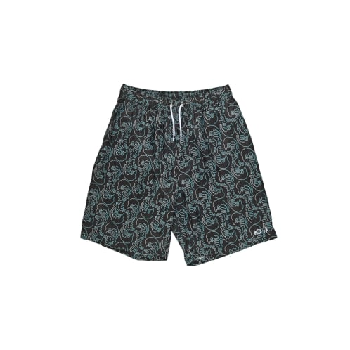 Polar Skate Co Art Swim Shorts Black