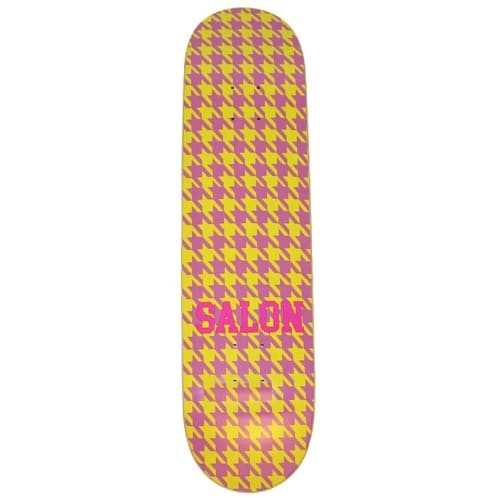 "Salon ""Hounds Tooth"" Skateboard Deck 8.25"""