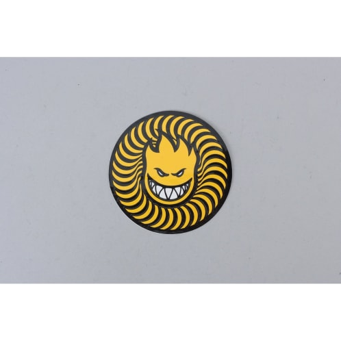 Spitfire Swirl Head Sticker Yellow