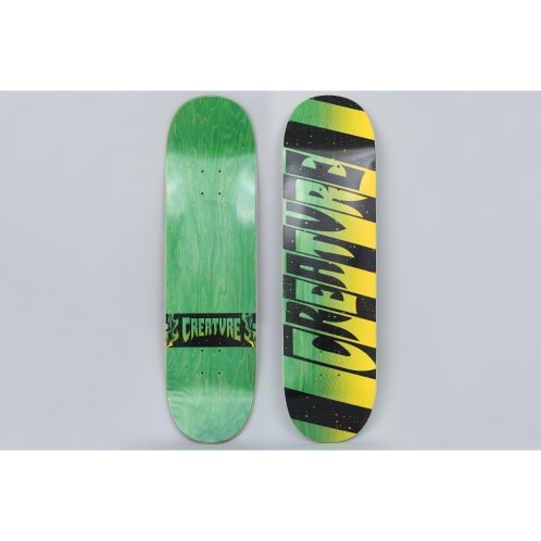 Creature 8.6 Team Stripes MD Skateboard Deck Black / Green