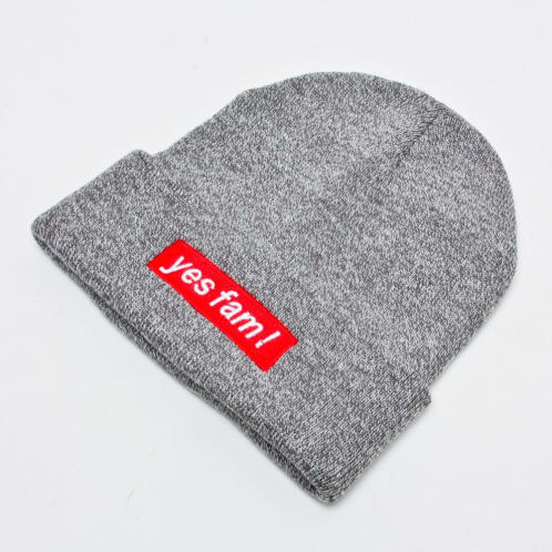 Yes Fam! Beanie Grey