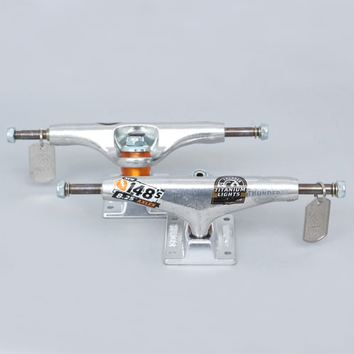 Thunder Hi 148 Polished Titanium Lights Trucks (Pair)