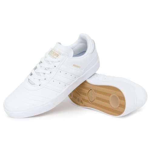 Adidas Busenitz Vulc Shoes - White/White/Gold