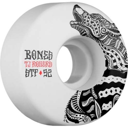 Bones Skateboard Wheels STF Rogers Wolf V3 Street Tech Formula 52mm
