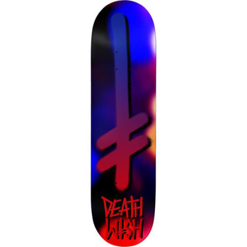 Deathwish Skateboards Gang Logo Fuzz Skateboard Deck - 7.75