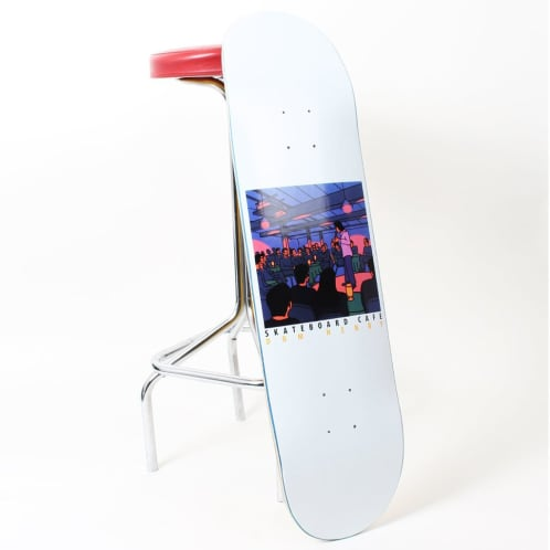 Skateboard Cafe Dom Henry Stand Up Deck White - All Sizes