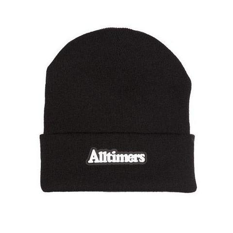 Alltimers Broadway Rubber Patch Beanie Black
