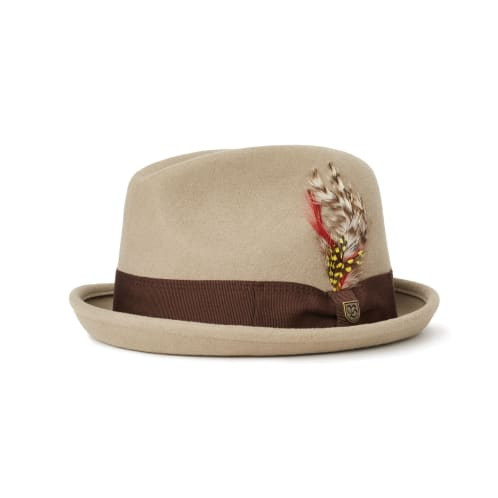 Brixton Gain Fedora - Light Khaki/Brown