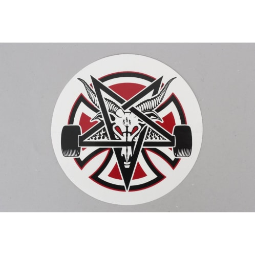 Independent X Thrasher Pentagram Cross Sticker Black / Red / White