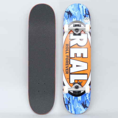 Real 7.38 Awol Ovals Mini Complete Skateboard Blue / Orange