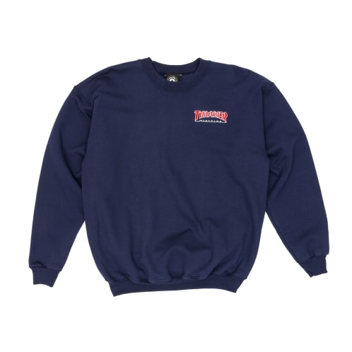 Thrasher Outlined Crew Sweatshirt - Navy