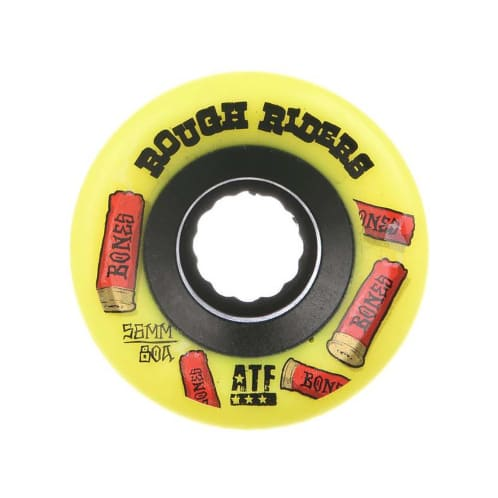 Bones Rough Riders Shotgun ATF Skateboard Wheel - Yellow 56MM