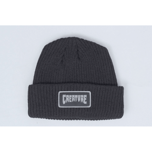 Creature Long Shoreman Patch Beanie Black