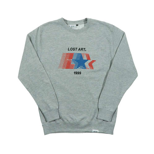 L Star Crew Neck Sweatshirt Sport Grey