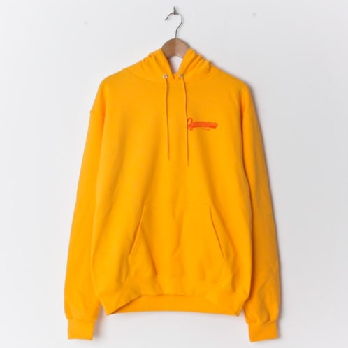 Quartersnacks Grocery Champion Brand Hood Orange (With Back Print)