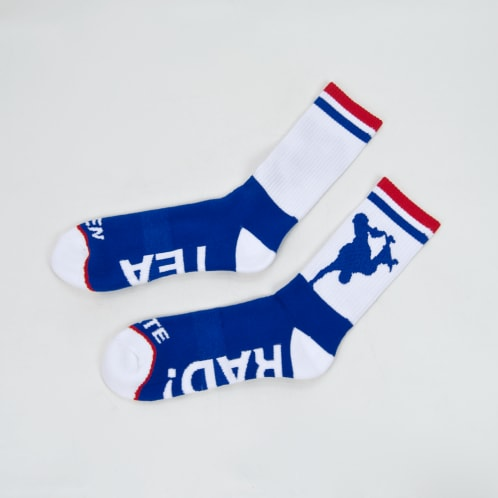 Lovenskate - Apart Together Socks - White / Blue