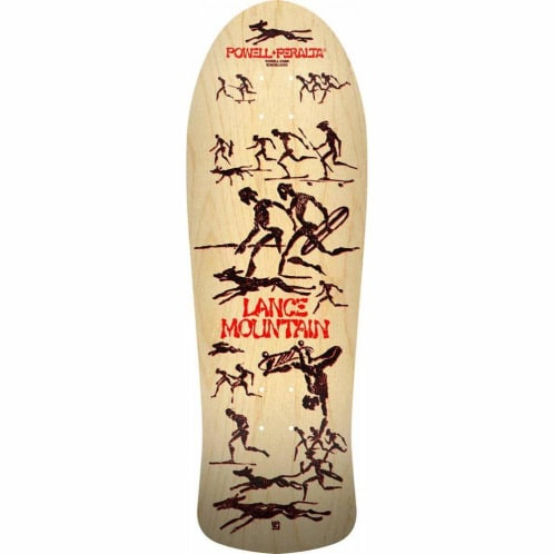 Powell Peralta Lance Mountain Future Primitive Natural Skateboard Deck 10""