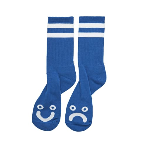 Polar Skate Co Happy Sad Socks Royal Blue