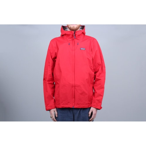 Patagonia Torrentshell Jacket Fire Red W / Big Sur Blue