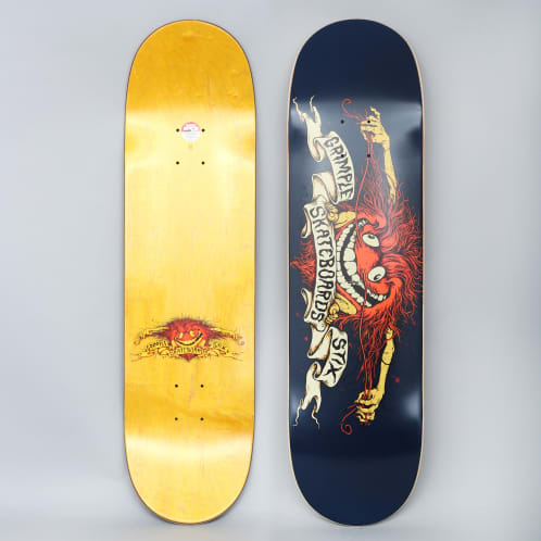 Anti Hero X Grimple Stix 8.5 Team Skateboard Deck Navy