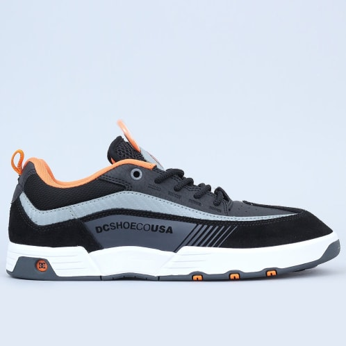 DC Legacy 98 Slim Shoes Black / Orange / Grey