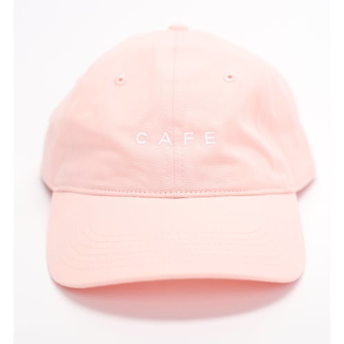 Skateboard Cafe Embroidered 6 Panel Pink