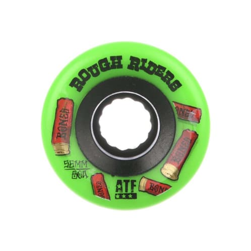 Bones Rough Riders Shotgun ATF Skateboard Wheel - Green 56MM