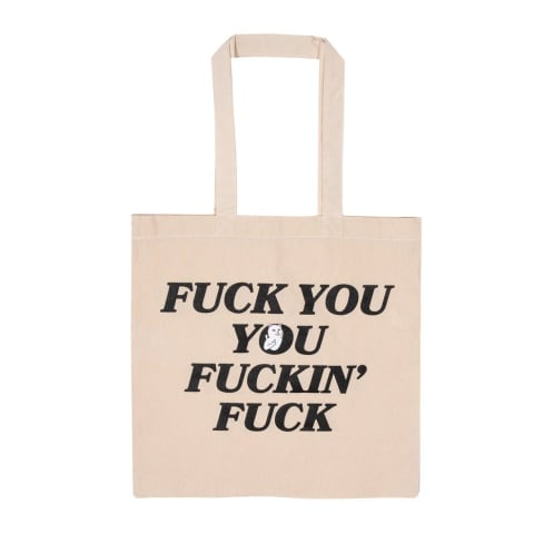 RIPNDIP Fucking Fuck Canvas Tote Bag - Natural