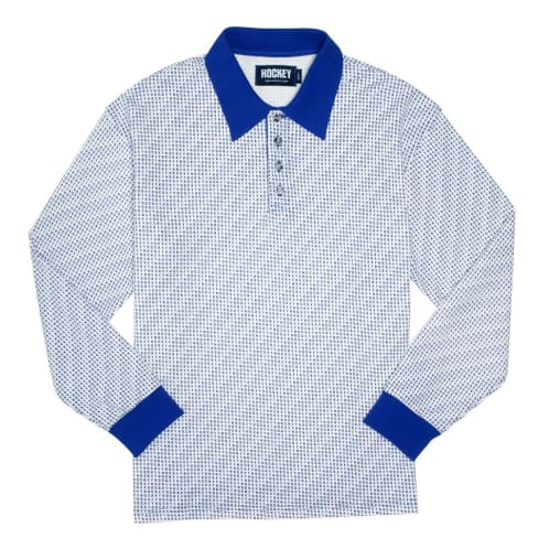 Hockey All Over LS Polo White/Blue