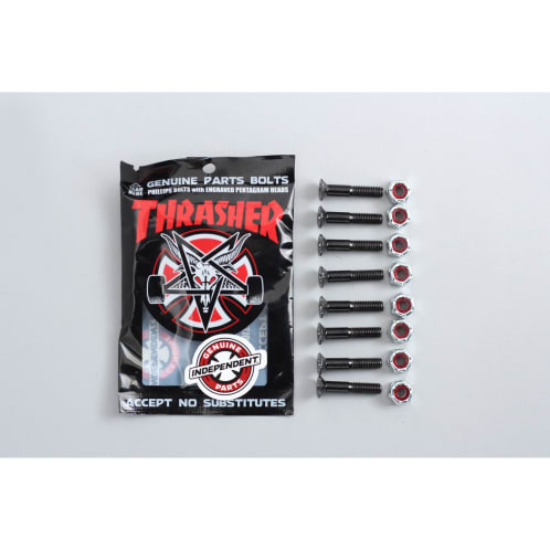 Independent X Thrasher 1 Phillips Bolts Black / Silver