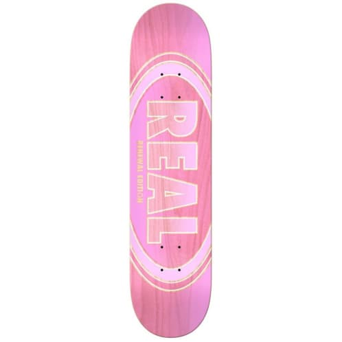 Real Oval Duo Fades Deck Pink - 7.38""