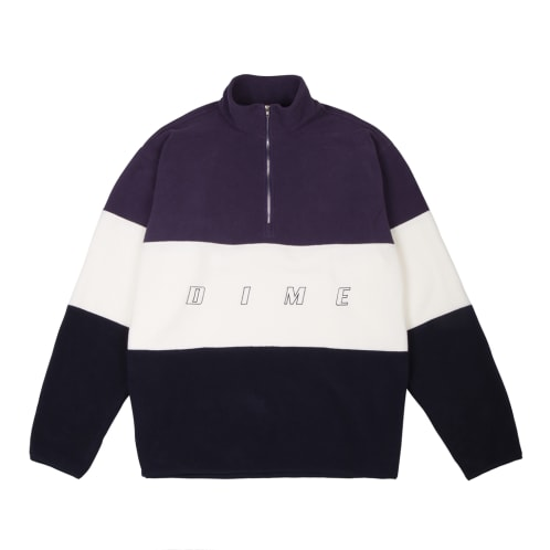 Dime MTL 3 Tone Skateboarding Fleece - Purple