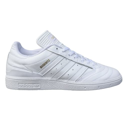 Adidas Skateboarding Busenitz Skate Shoes - White/Metallic Gold/White
