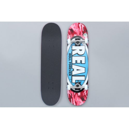 Real 8 Awol Ovals Large Complete Skateboard Red / Blue