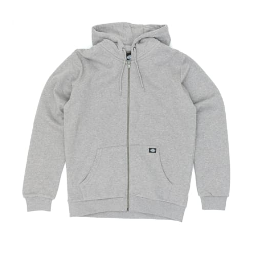 Dickies Kingsley Zip Hooded Sweatshirt - Grey Melange