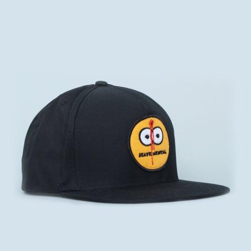 Skate Mental Smiley Shot Black Cap