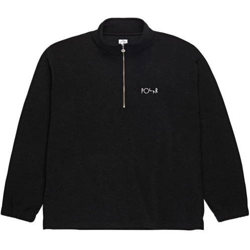Polar Terry Zip Mockneck - Black