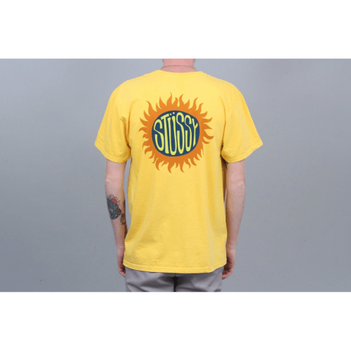 Stussy Sol Pigment Dyed T-Shirt Gold
