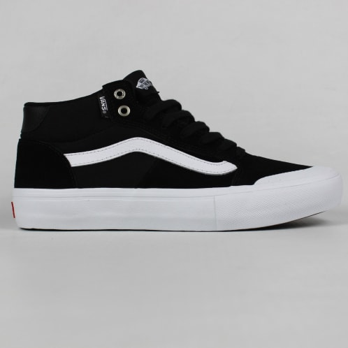 61df151d8cca81 Vans 112 Mid Pro Shoes Black White